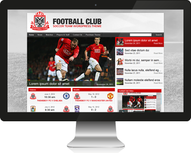 Premium Football WordPress Theme