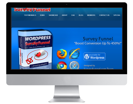 SurveyFunnel is a premium WordPress plugin for funneling the web traffic through interesting surveys.