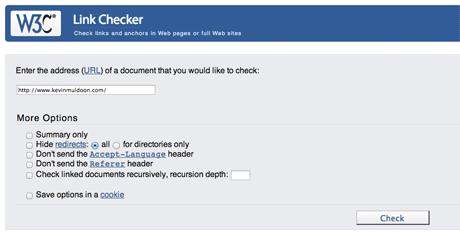 W3C Link Checker Service