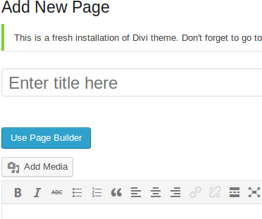Creating a page with using WordPress