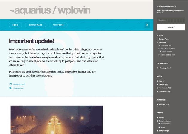 Aquarius WordPress Theme