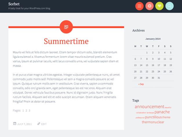 Sorbet WordPress Theme