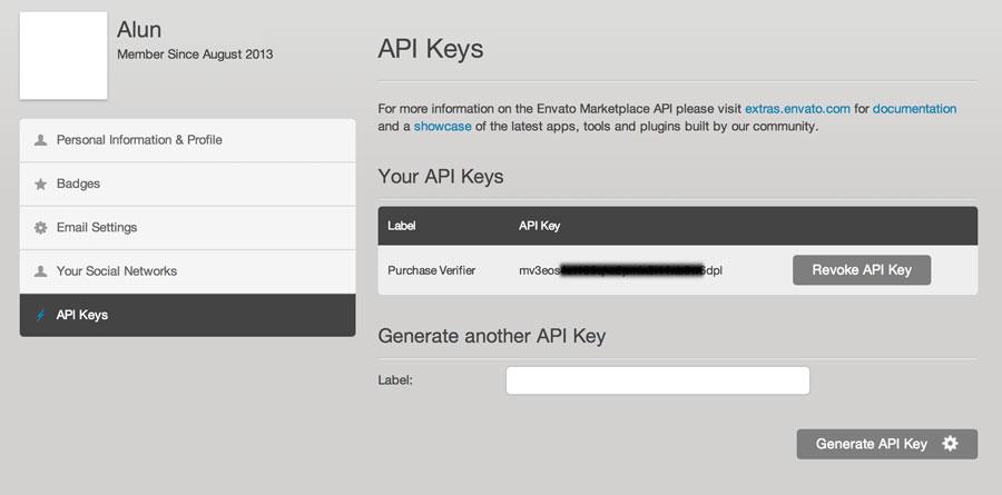 Getting API key