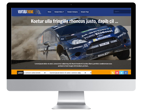 Ventura - A ssleek responsive WordPress theme