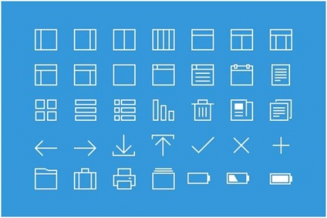 A pack of thin line icons