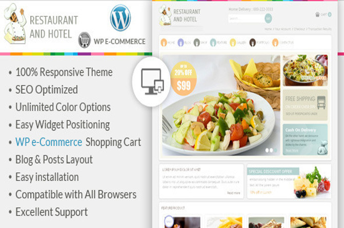 Restaurant theme for WordPress