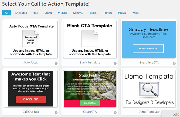 Call-to-Action-Templates in WordPress