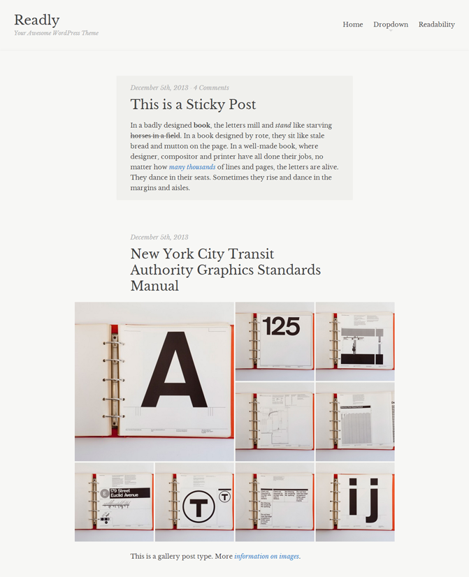 Readly WordPress Theme