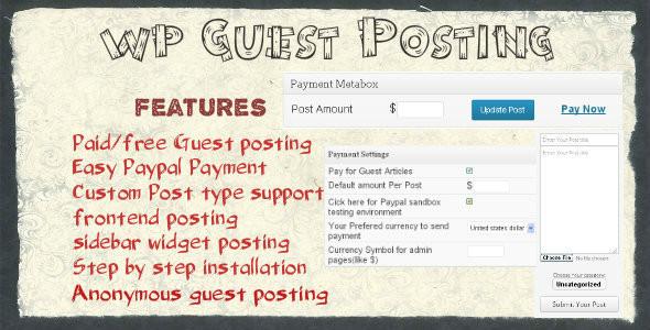 wp guest posting plugin