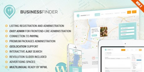 Business Finder WordPress Directory Theme