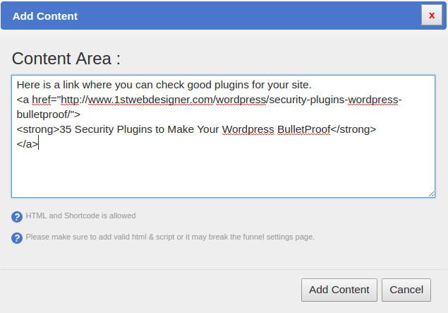 SurveyFunnel Premium WordPress Plugin add_content