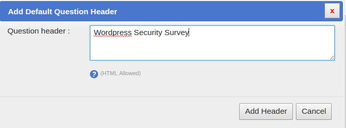 SurveyFunnel Premium WordPress Plugin add_header