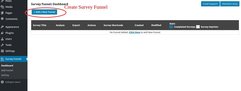 SurveyFunnel Premium WordPress Plugin add_new_funnel