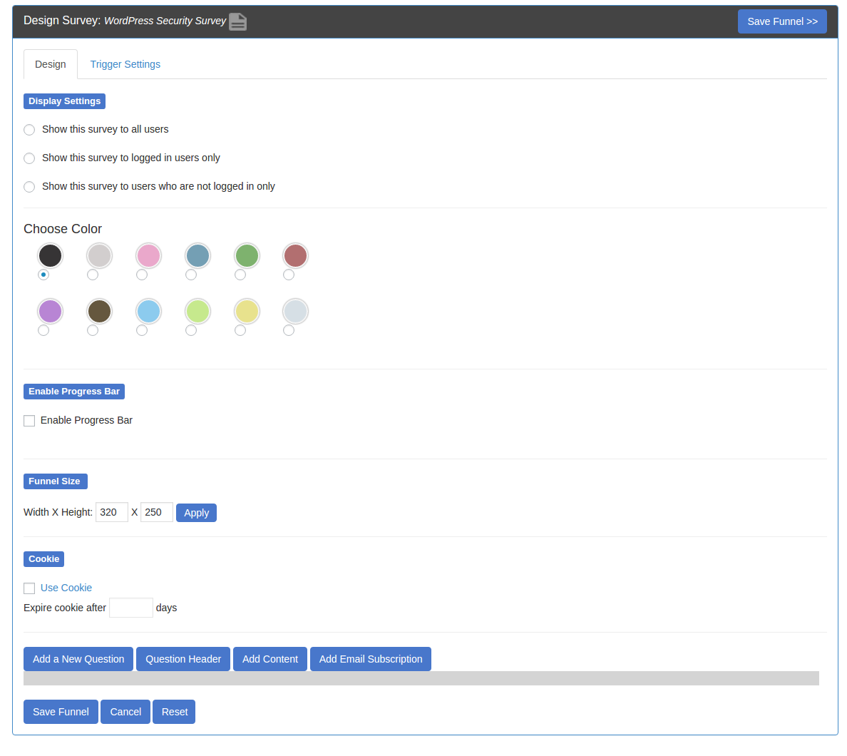 SurveyFunnel Premium WordPress Plugin design_funnel
