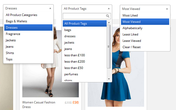 Grid-FX-WooCommerce Product Selection