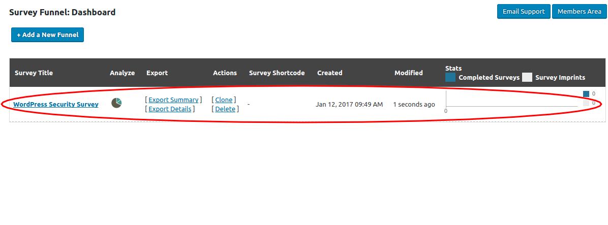 SurveyFunnel Premium WordPress Plugin new_added_funnel