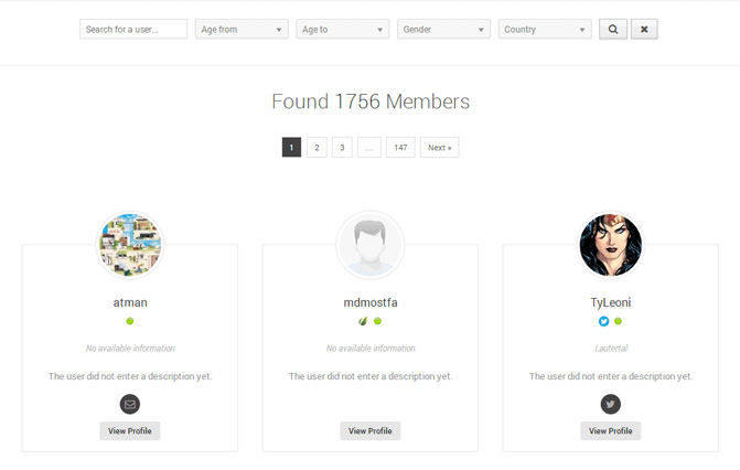 UserPro Member Directory