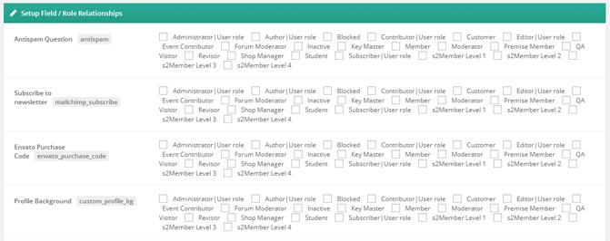 UserPro User Roles