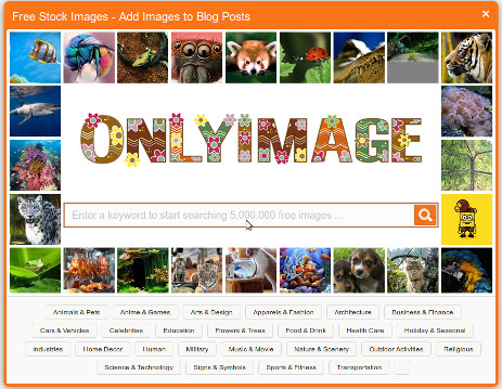 Only Image-free creative commons image plugin for WordPress