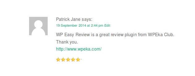 WP Easy Review, WordPress plugin, WordPress review plugin