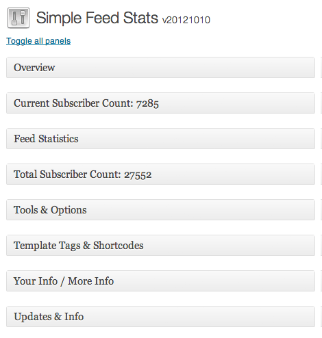 Simple Feed Stats