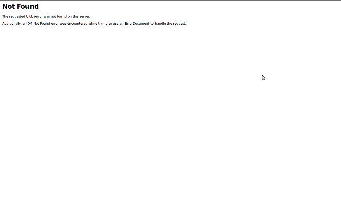 404 Browser error