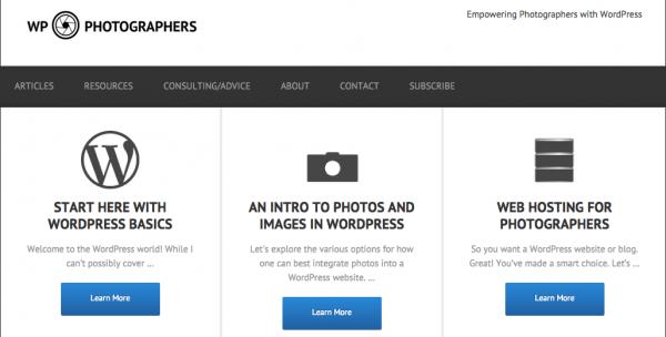 WP-Photographers Homepage
