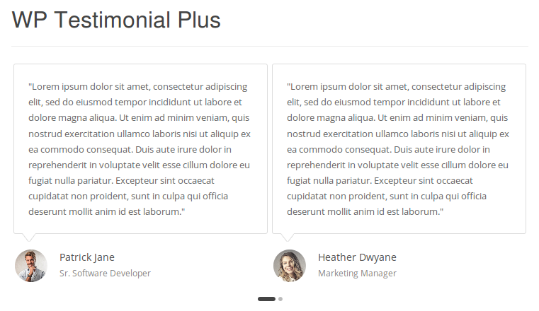 WordPress Testimonial Plugin Demo