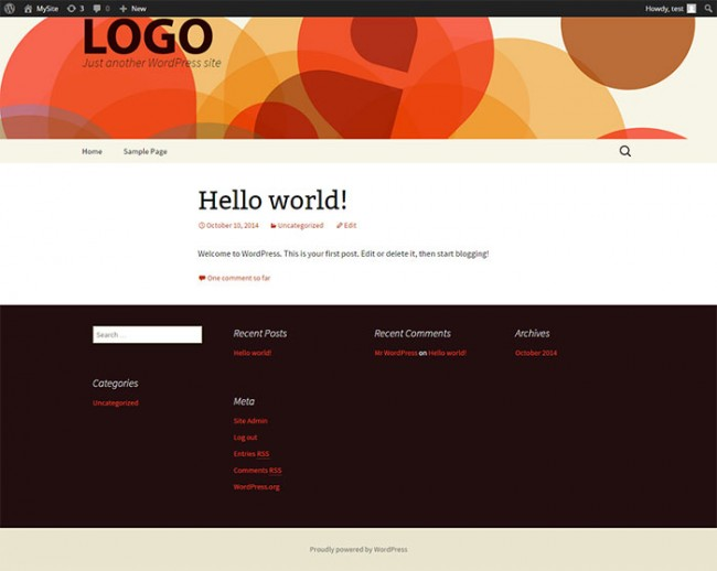 WordPress Theme Header and Footer page4