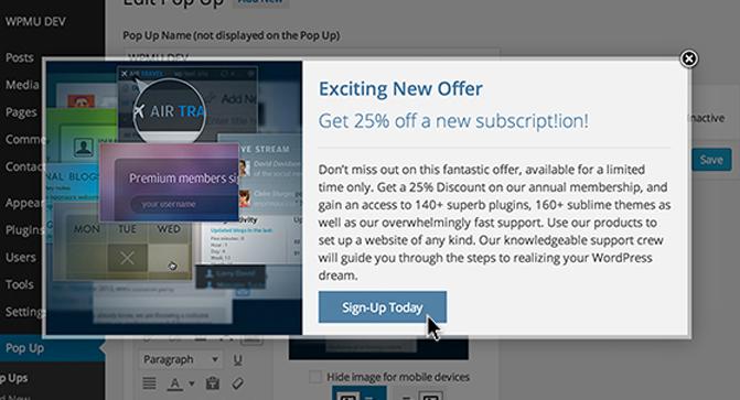 WordPress PopUp