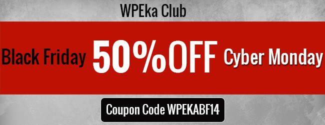 WPEka Club's Exclusive Black Friday / Cyber Monday Deal