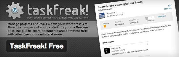 Taskfreak! Project Management Plugin