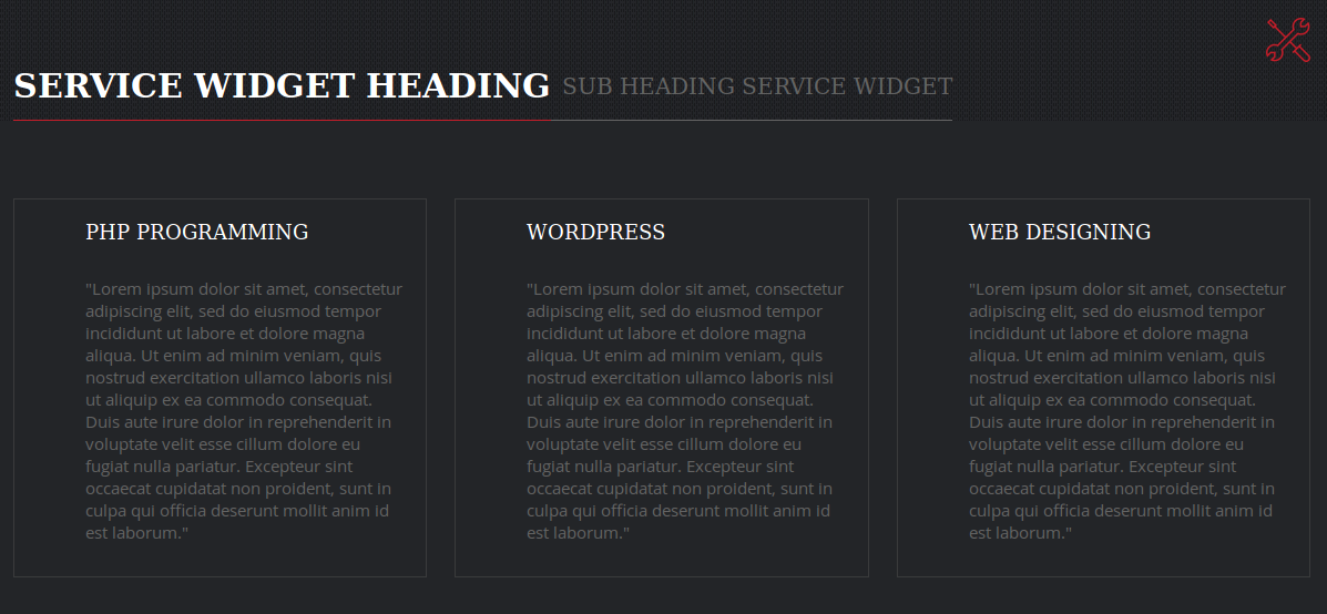 Service - Widget
