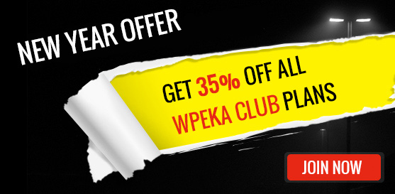 WPEka Club - WordPress New Year Offer - Get 35% Off all plans