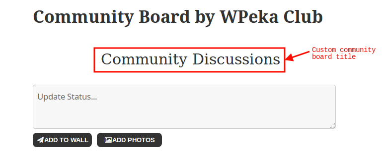 Community Board - New Social Wall