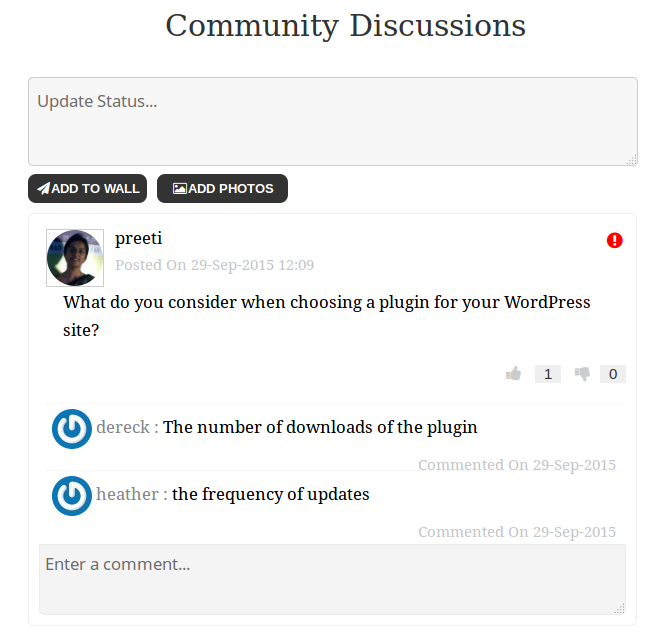 Community Board - Social Wall