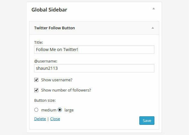 Twitter Follow Widget