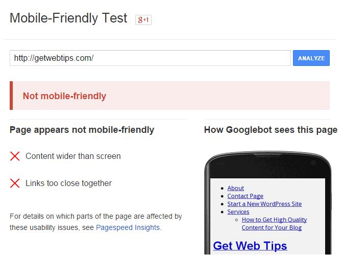 Responsive Testing Tools Google Mobile-Friendly Test
