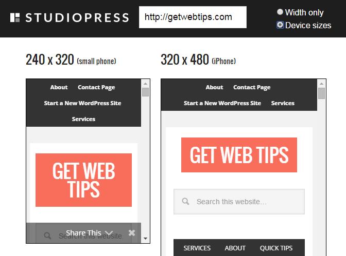 Responsive Testing Tools StudioPress
