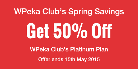 Hello Spring! Get 50% Off WPeka Club's Platinum Plan