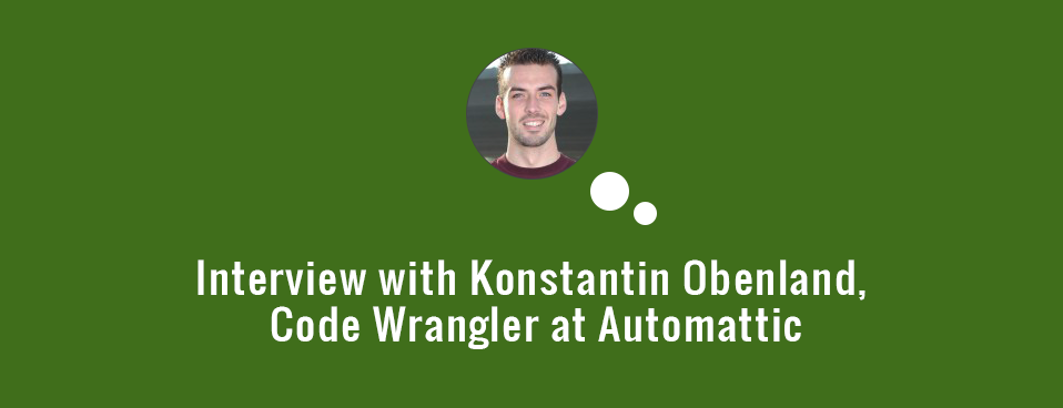 Interview with Code Wrangler - Konstantin Obenland