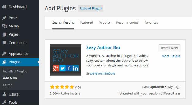 Install Sexy Author Bio