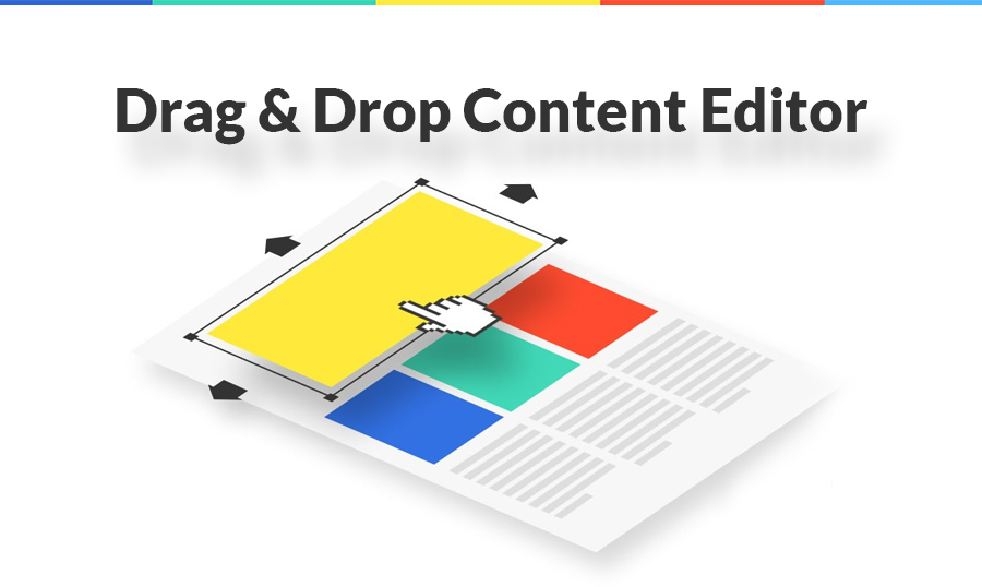 drag and drop content editor