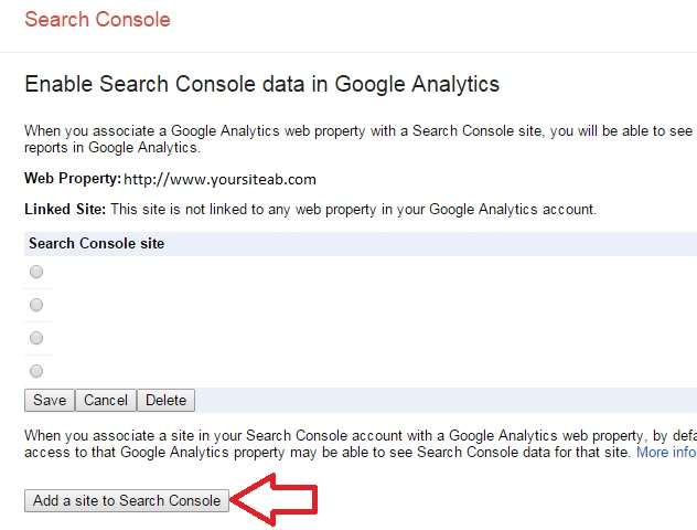 Add a Site In Google Webmaster Console