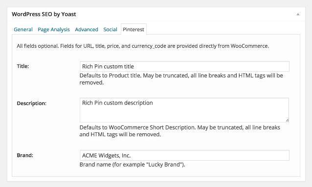 WPSEO Pinterest Rich Pins