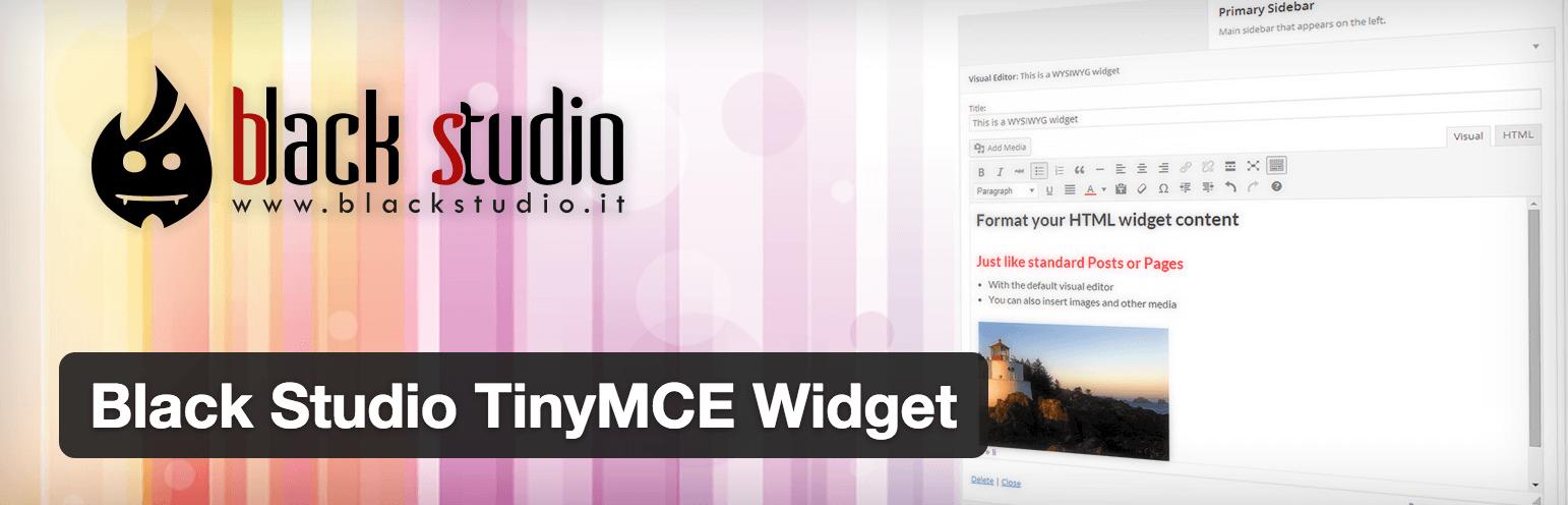 Black Studio TinyMCE Widget