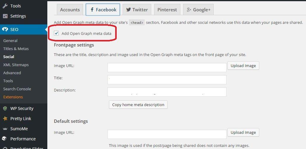 Facebook Open Graph in Yoast SEO