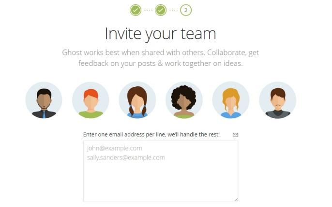 Ghost team Invitation