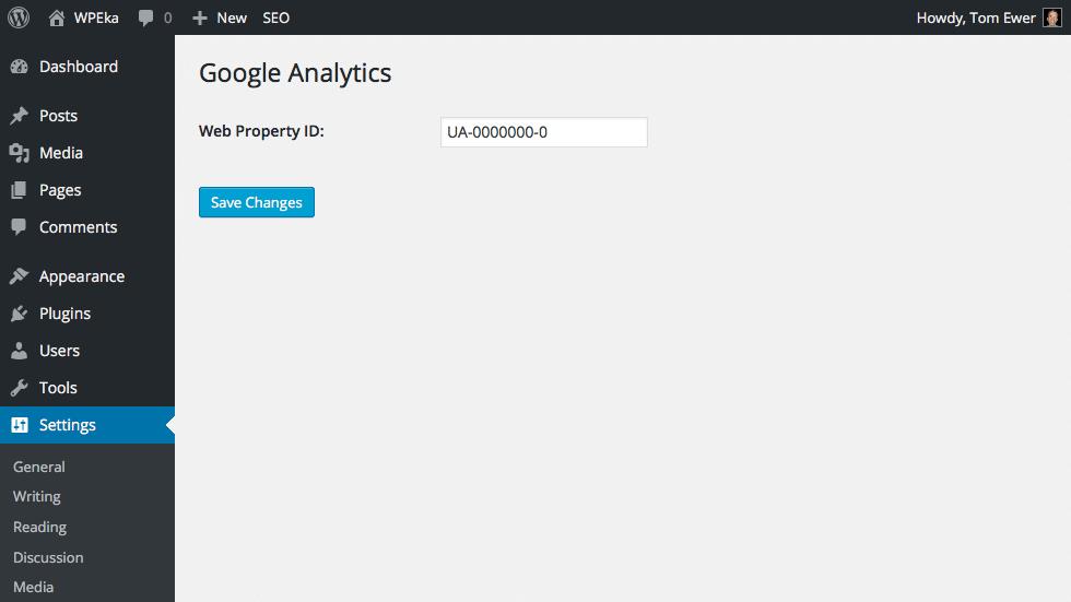 Yoast Google Analytics
