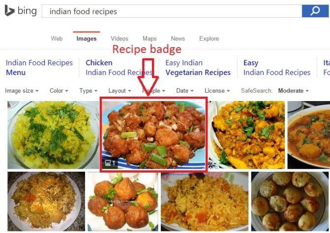 Bing Recipe badge